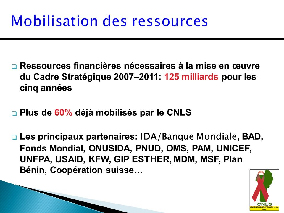Mobilisation des ressources