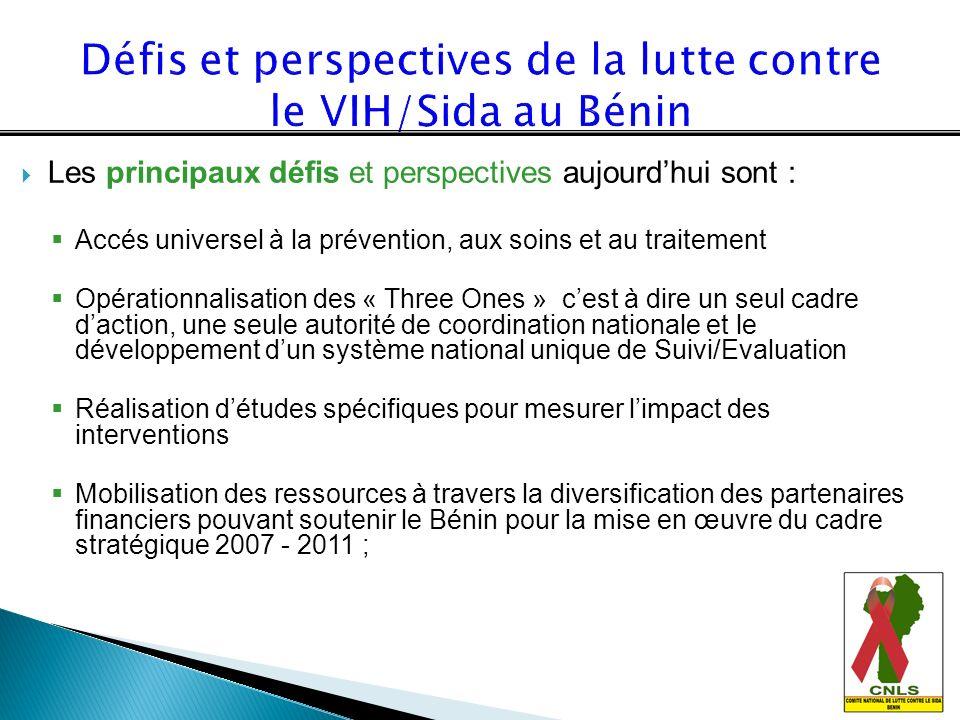 Défis et perspectives de la lutte contre le VIH/Sida au Bénin