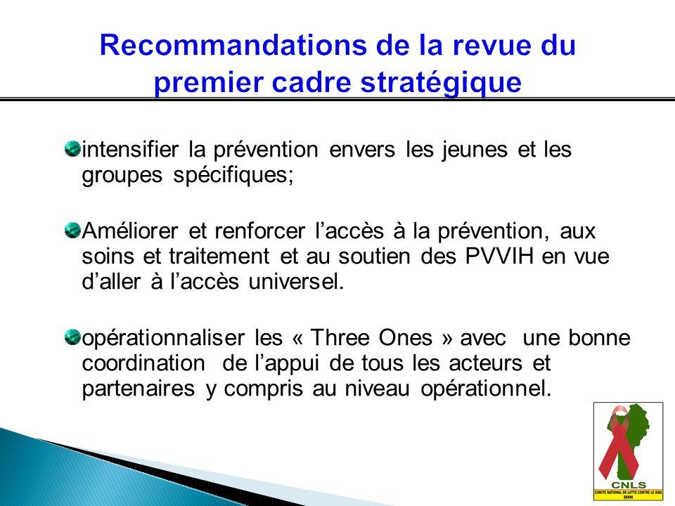 Recommandations de la revue du premier cadre stratégique