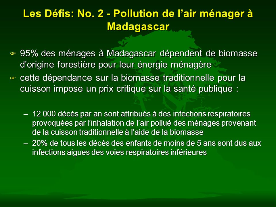 Les Défis: No. 2 - Pollution de l'air ménager à Madagascar