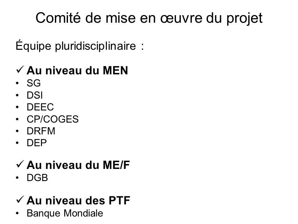 Comité de mise en œuvre du projet