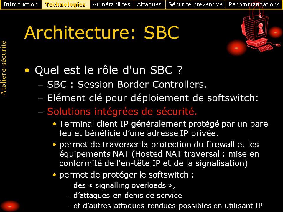 Architecture: SBC Quel est le rôle d un SBC