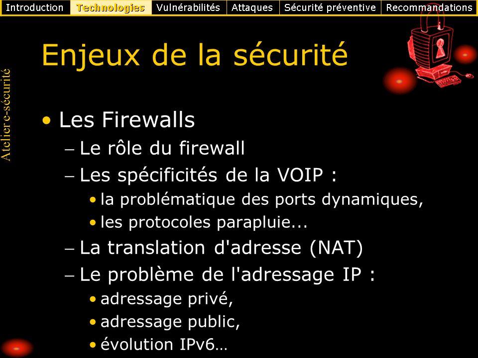 Enjeux de la sécurité Les Firewalls Le rôle du firewall
