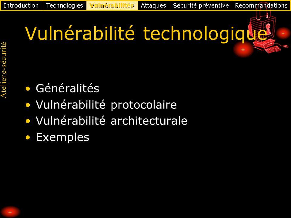 Vulnérabilité technologique