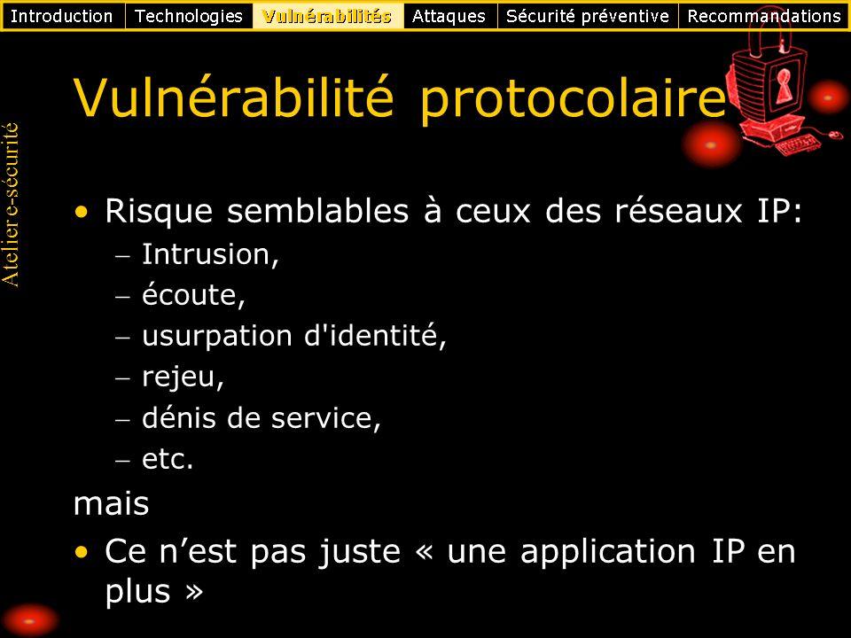 Vulnérabilité protocolaire