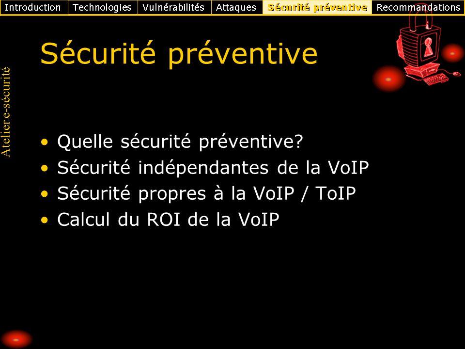 Sécurité préventive Quelle sécurité préventive