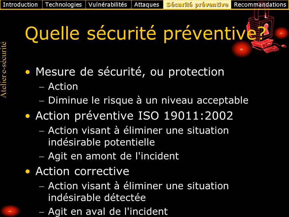Quelle sécurité préventive
