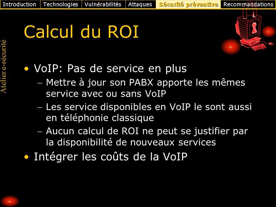 Calcul du ROI VoIP: Pas de service en plus