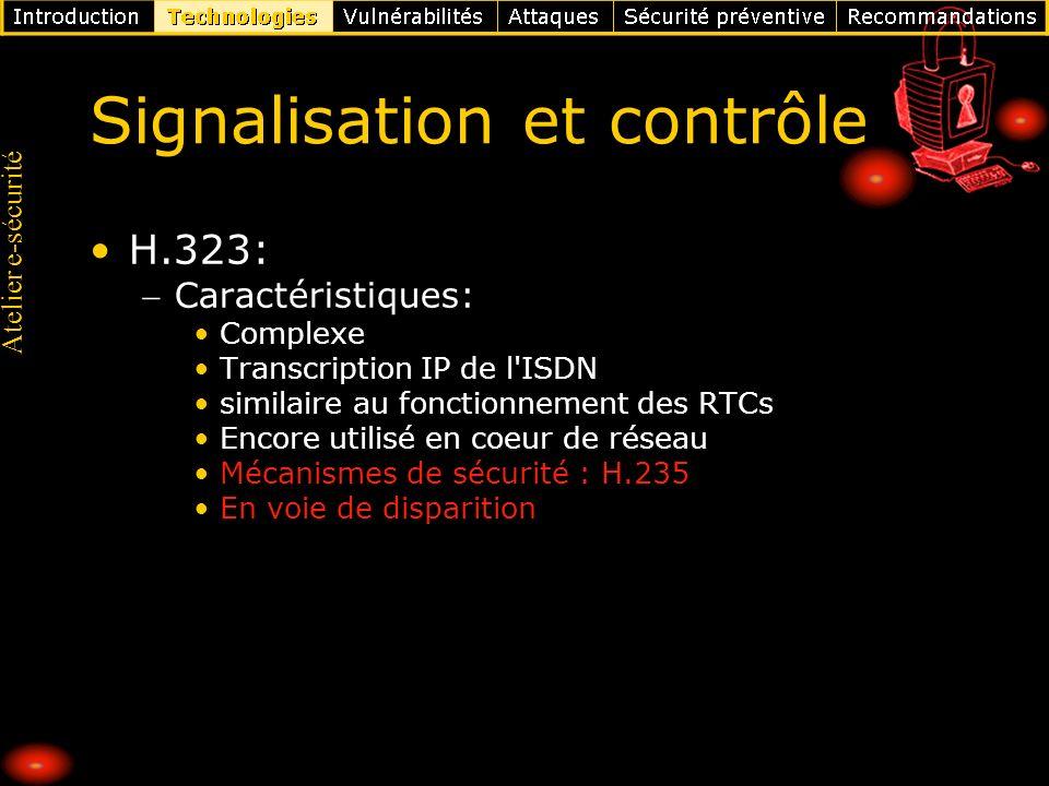 Signalisation et contrôle