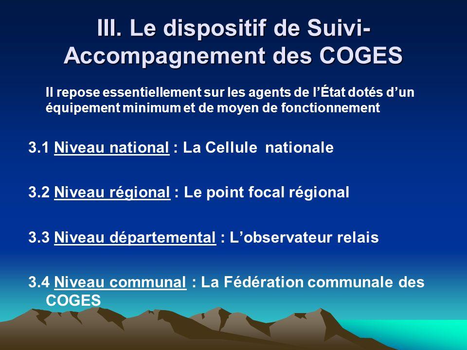 III. Le dispositif de Suivi-Accompagnement des COGES