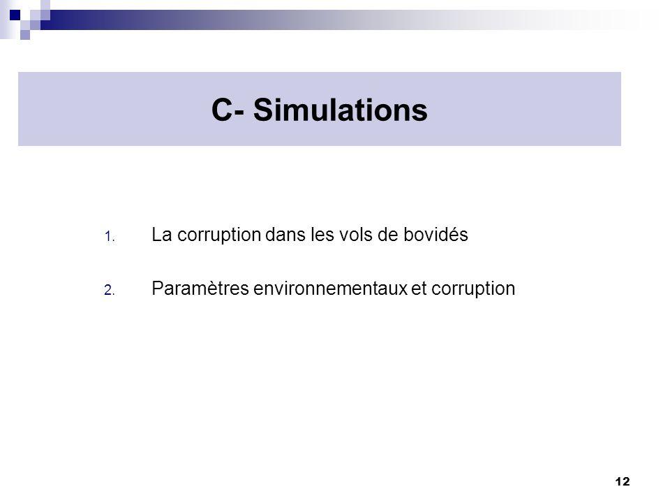 C- Simulations La corruption dans les vols de bovidés