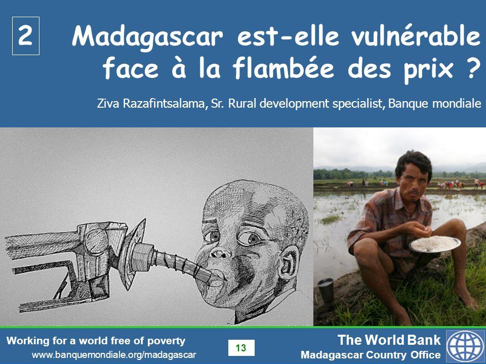 Madagascar est-elle vulnérable face à la flambée des prix