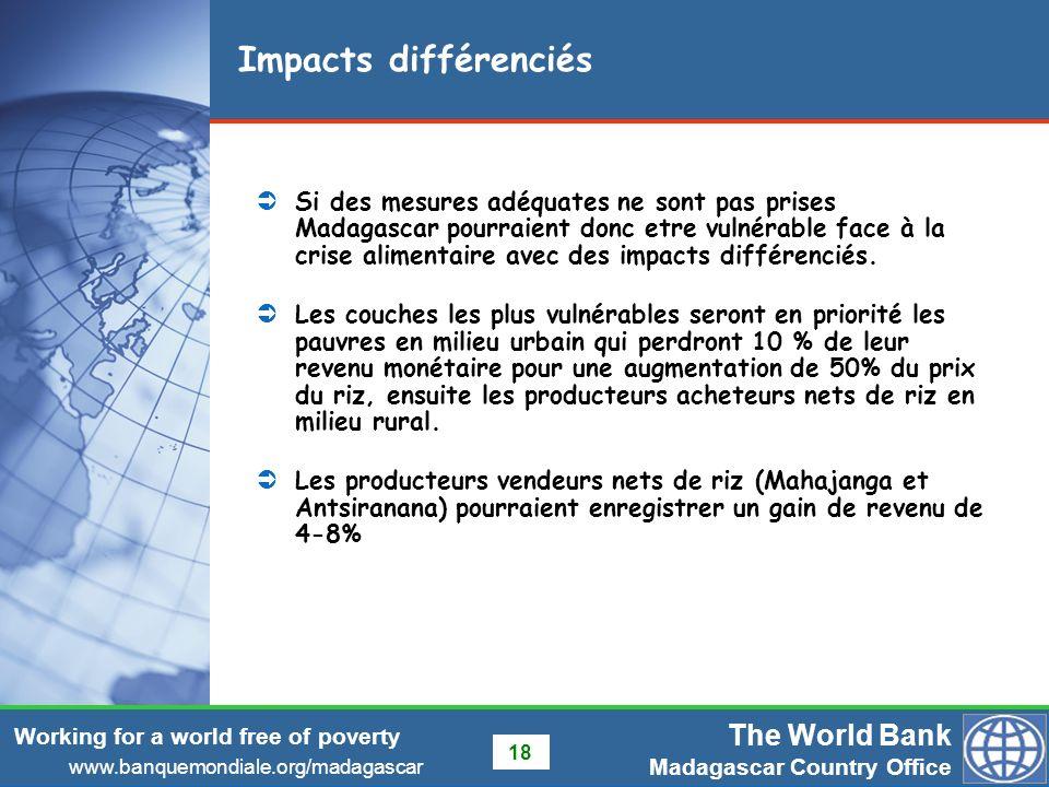 Impacts différenciés