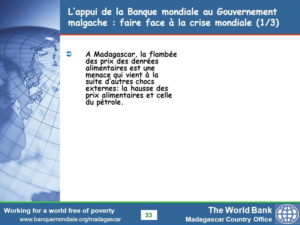 L'appui de la Banque mondiale au Gouvernement malgache : faire face à la crise mondiale (1/3)