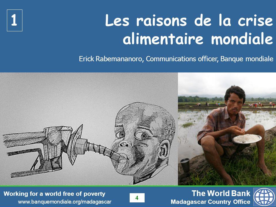 Les raisons de la crise alimentaire mondiale