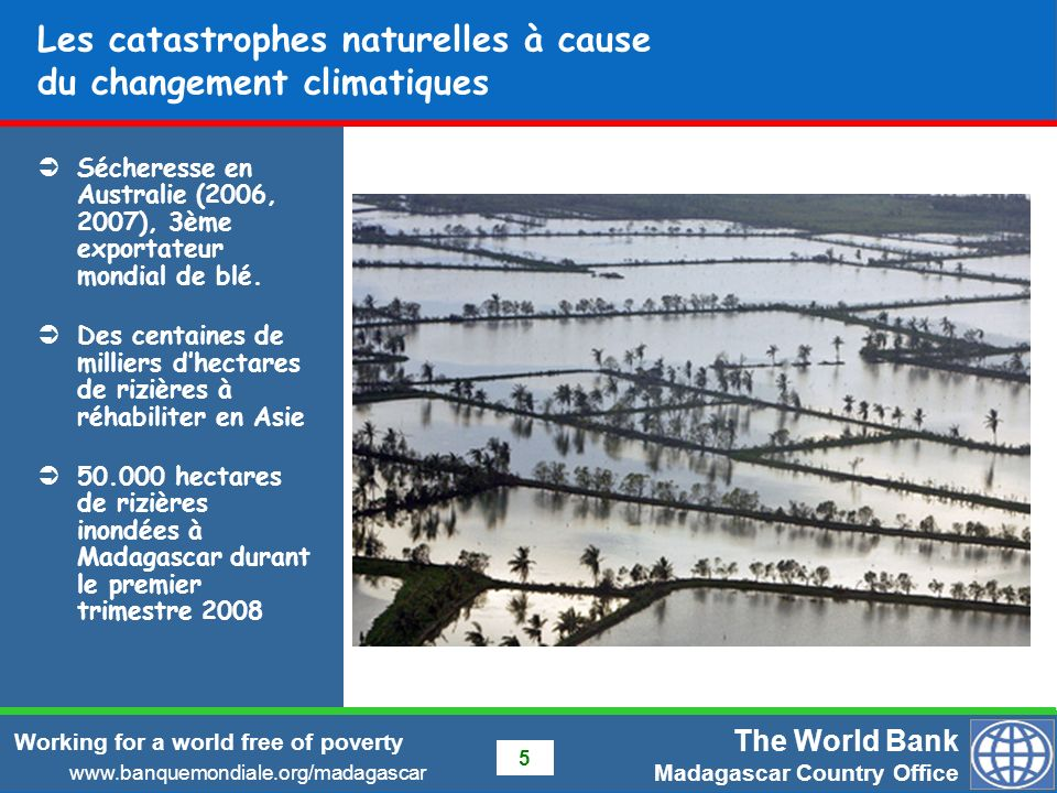 Les catastrophes naturelles à cause du changement climatiques