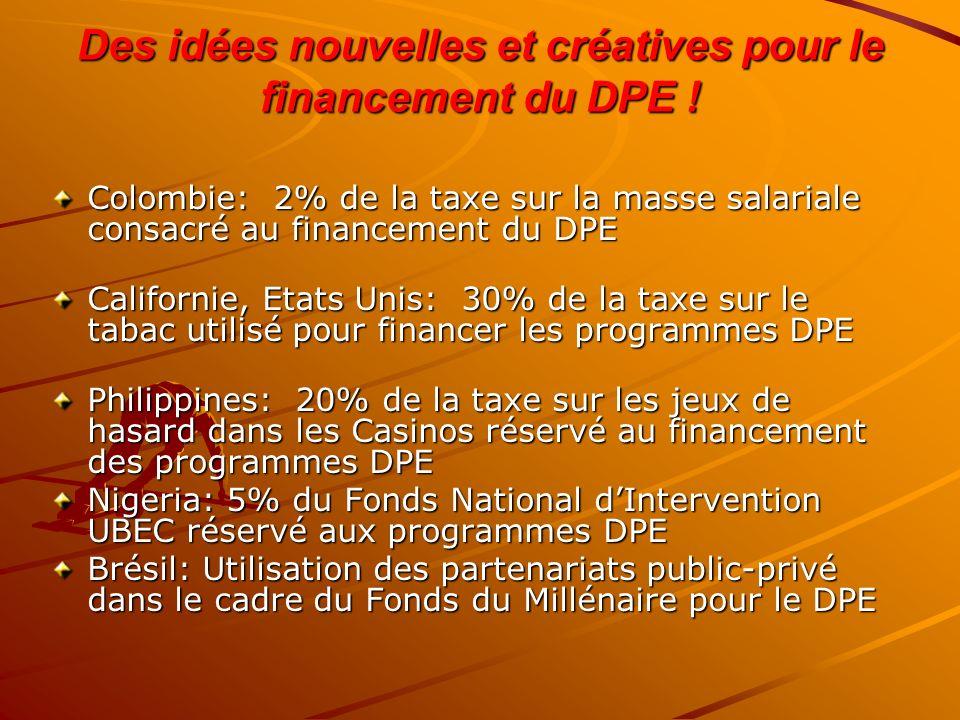 Des idées nouvelles et créatives pour le financement du DPE !