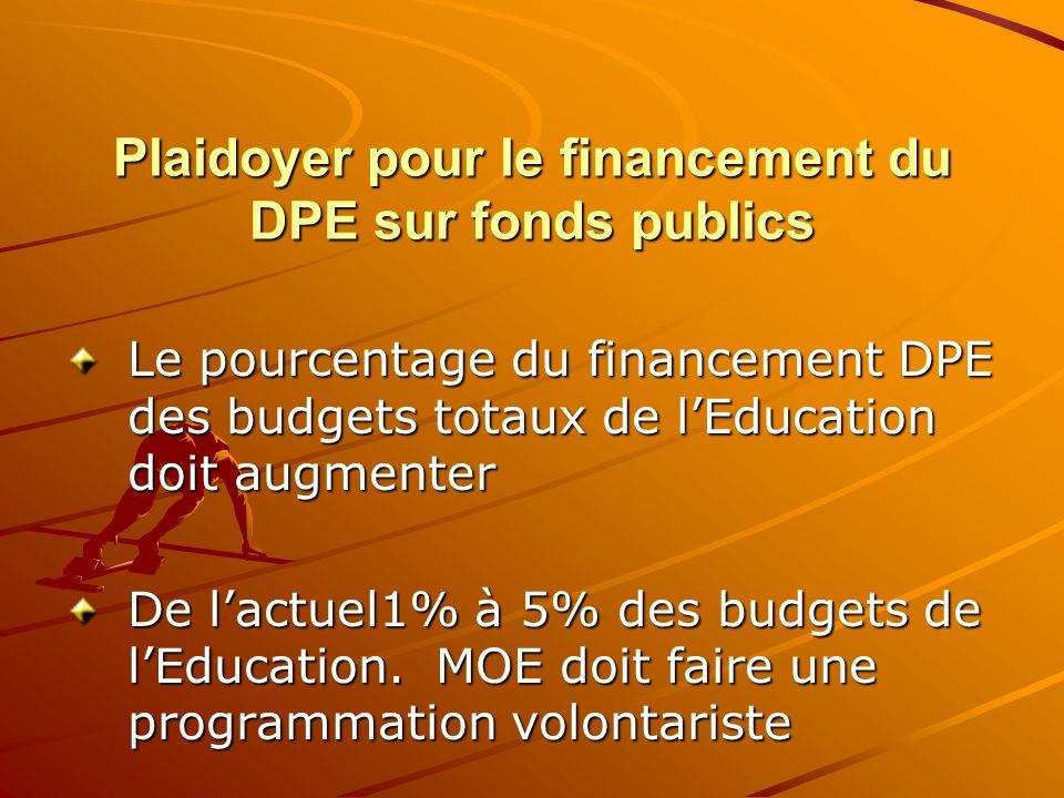 Plaidoyer pour le financement du DPE sur fonds publics