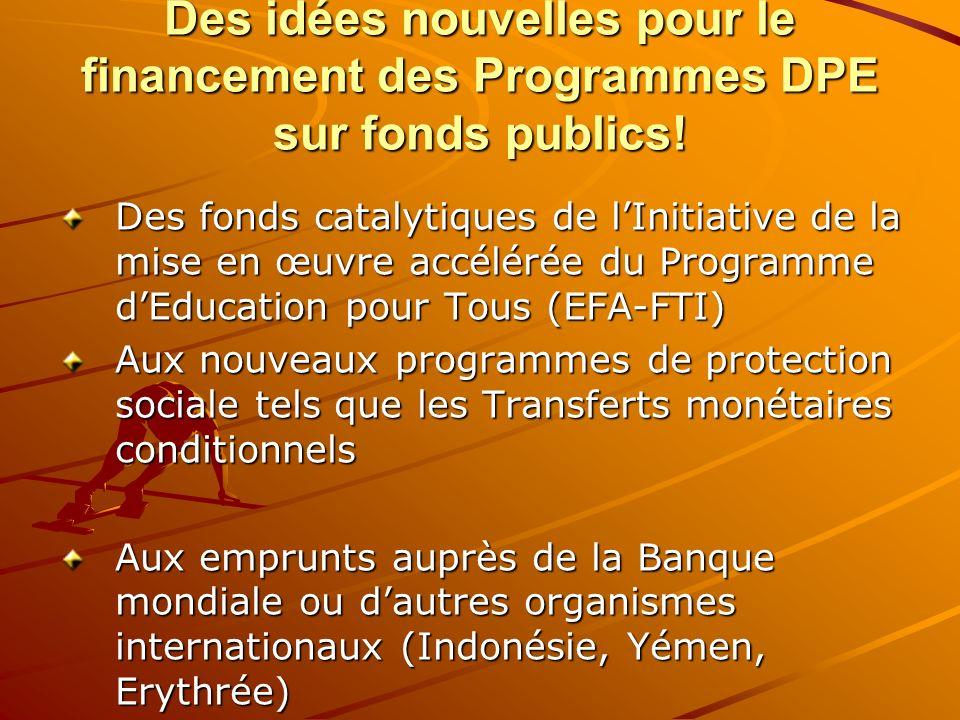 Des idées nouvelles pour le financement des Programmes DPE sur fonds publics!