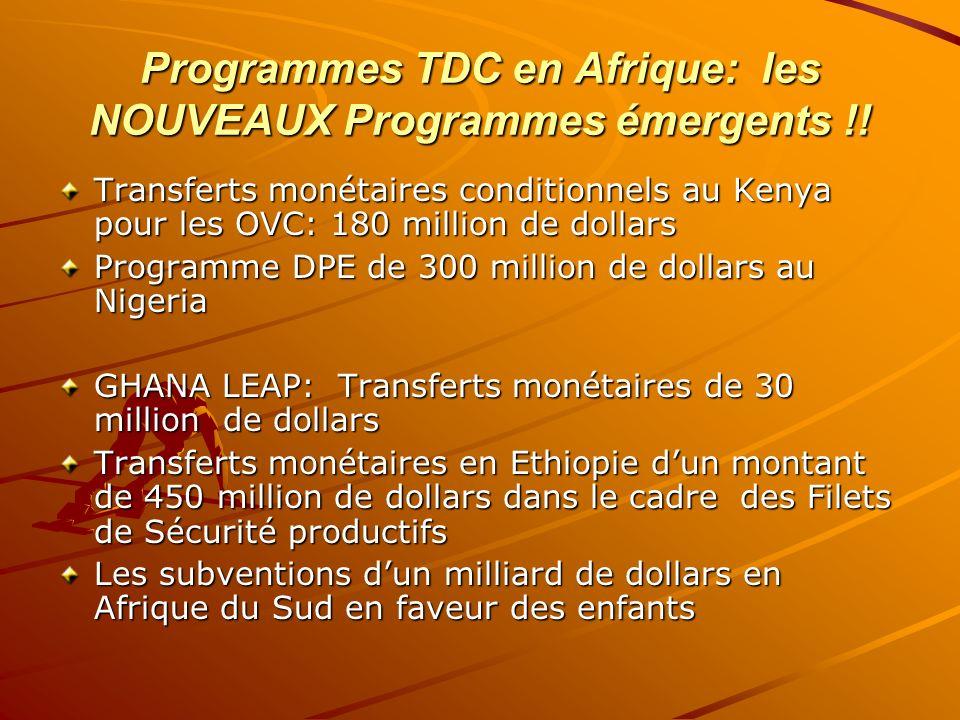 Programmes TDC en Afrique: les NOUVEAUX Programmes émergents !!