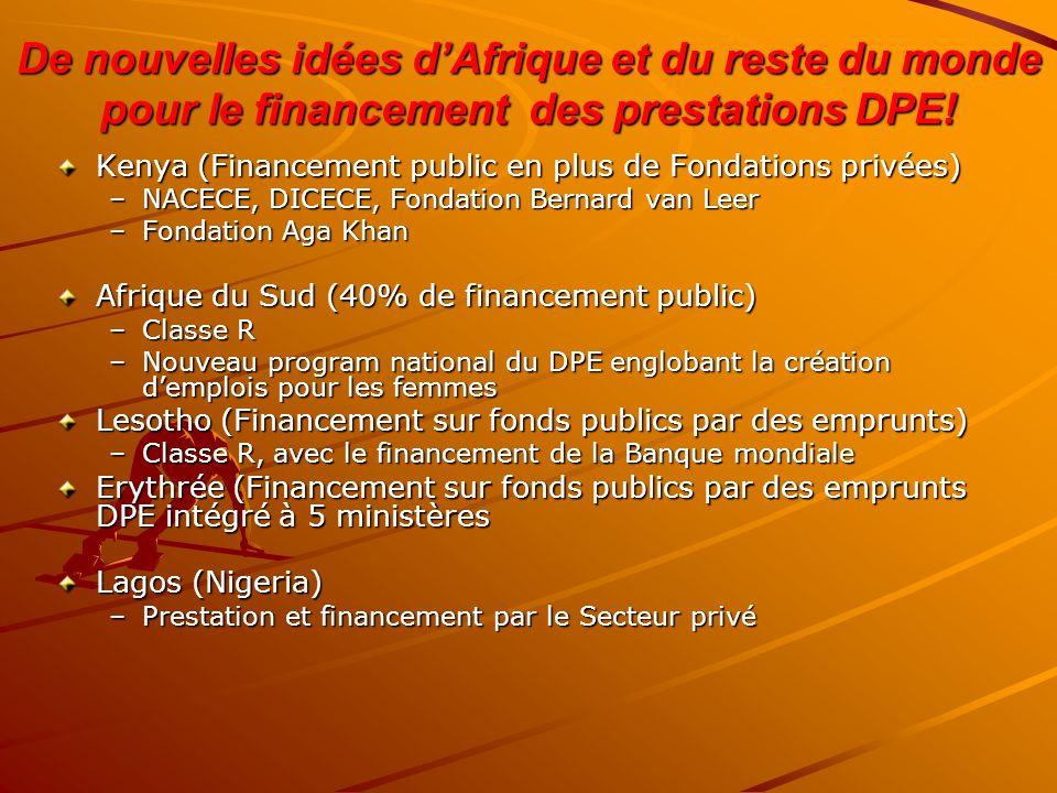 De nouvelles idées d'Afrique et du reste du monde pour le financement des prestations DPE!