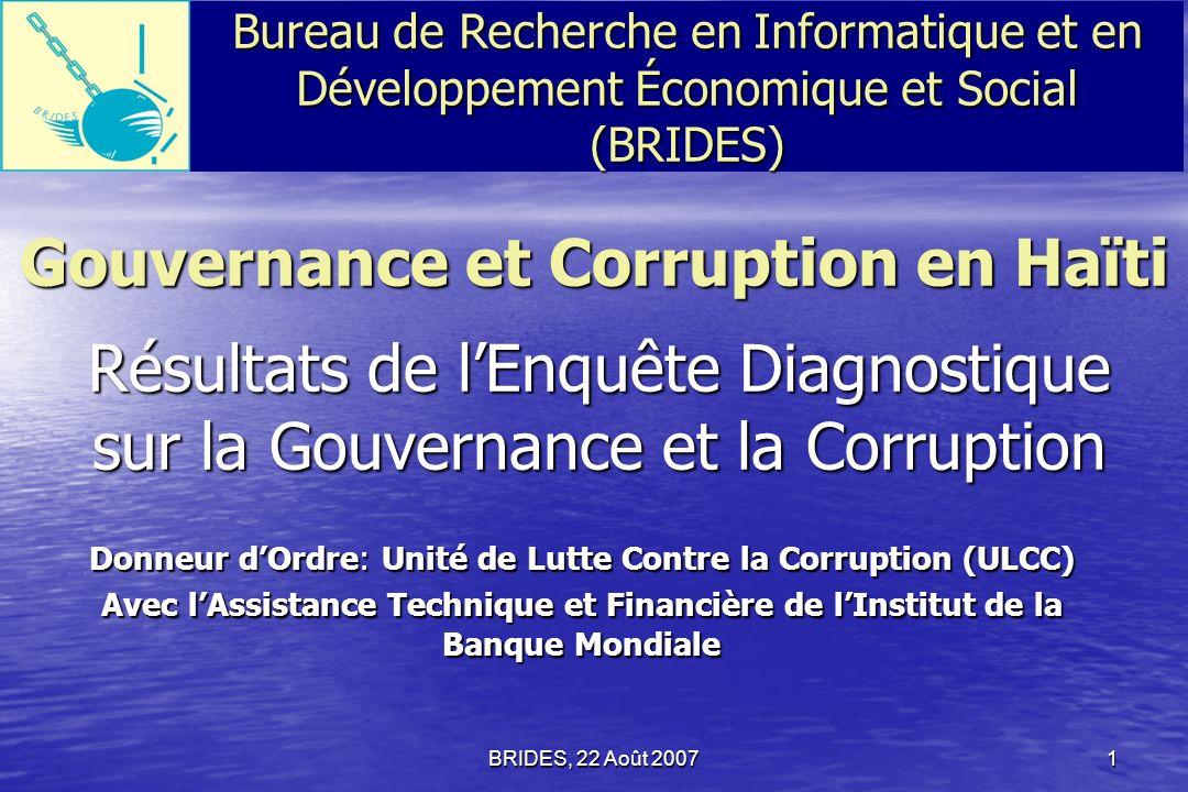 Gouvernance et Corruption en Haïti