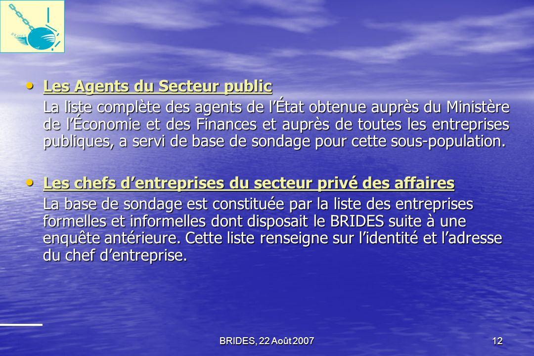 Les Agents du Secteur public
