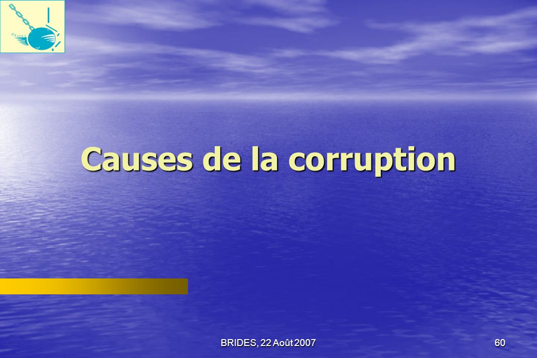 Causes de la corruption