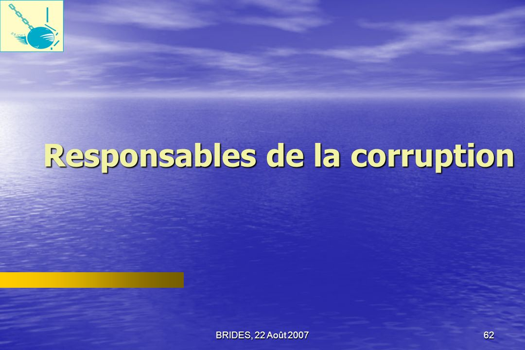 Responsables de la corruption