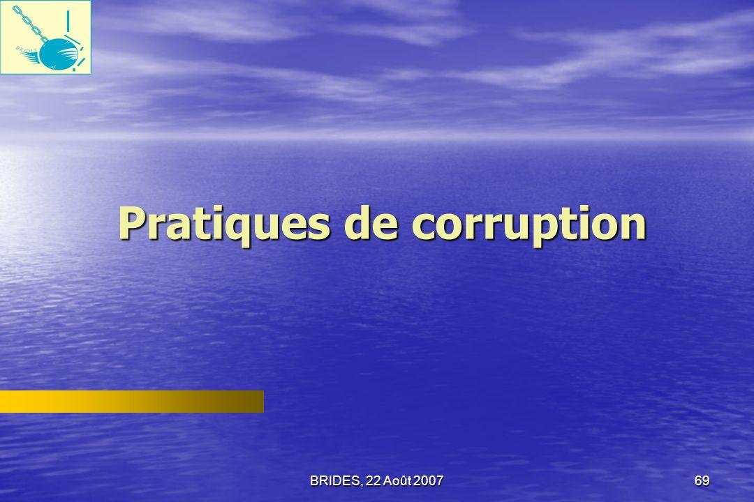 Pratiques de corruption