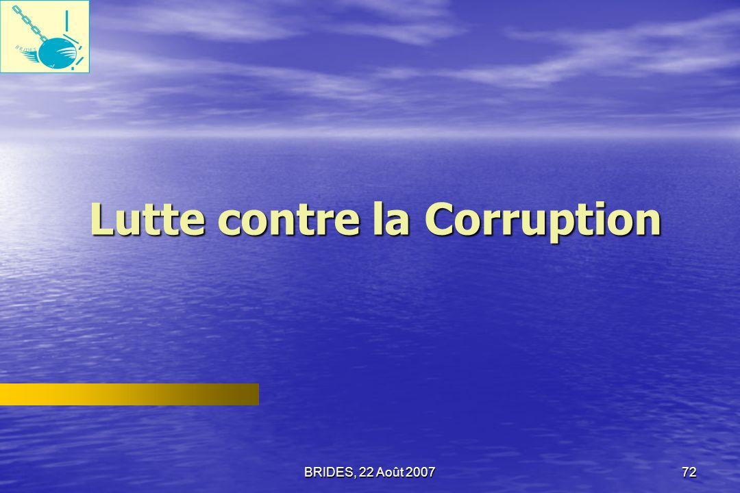 Lutte contre la Corruption