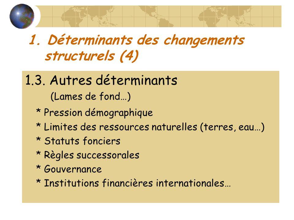1. Déterminants des changements structurels (4)