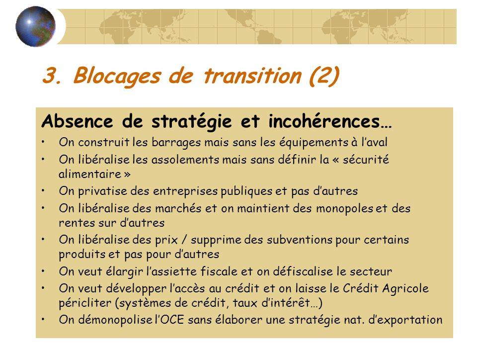 3. Blocages de transition (2)
