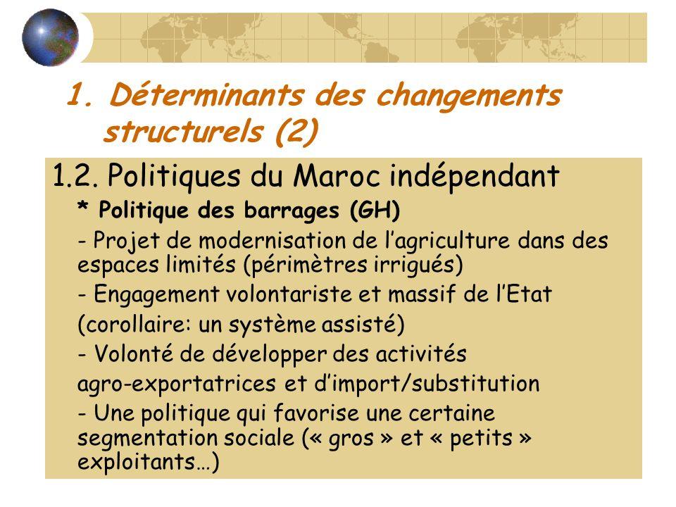 1. Déterminants des changements structurels (2)