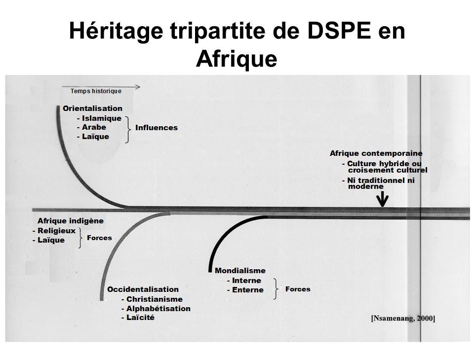 Héritage tripartite de DSPE en Afrique