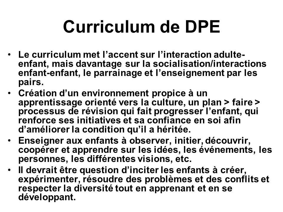 Curriculum de DPE