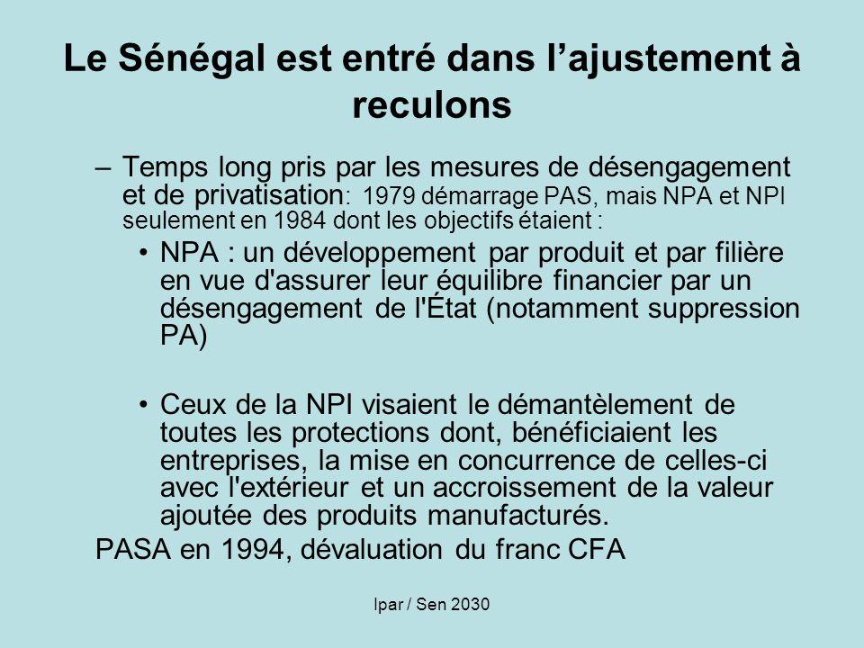 Le Sénégal est entré dans l'ajustement à reculons