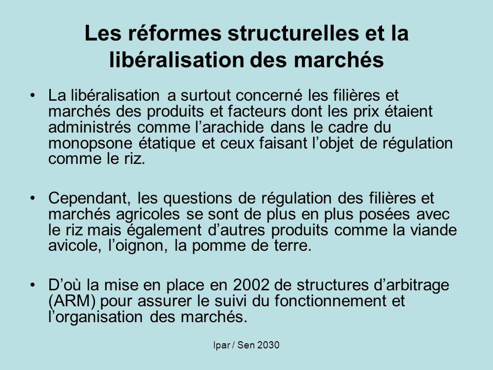 Les réformes structurelles et la libéralisation des marchés