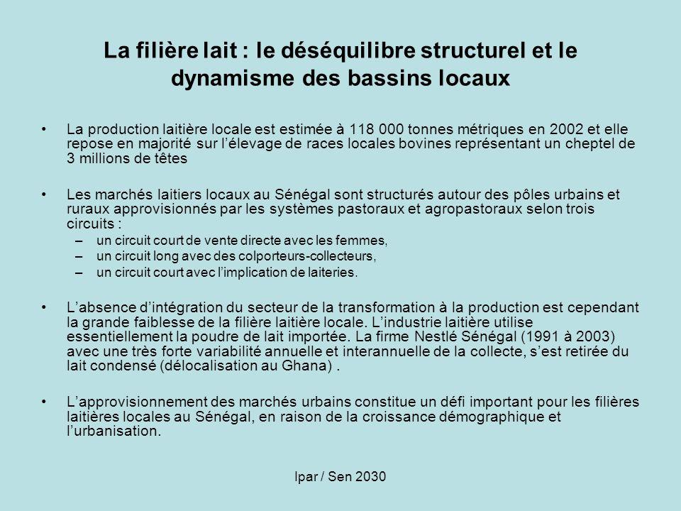 La filière lait : le déséquilibre structurel et le dynamisme des bassins locaux