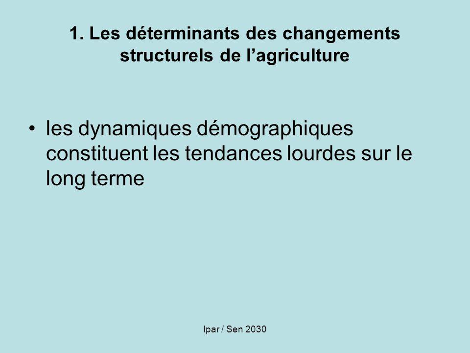 1. Les déterminants des changements structurels de l'agriculture