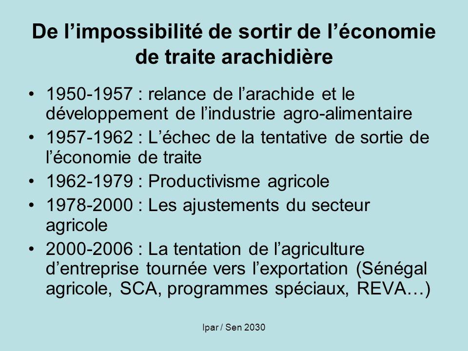 De l'impossibilité de sortir de l'économie de traite arachidière
