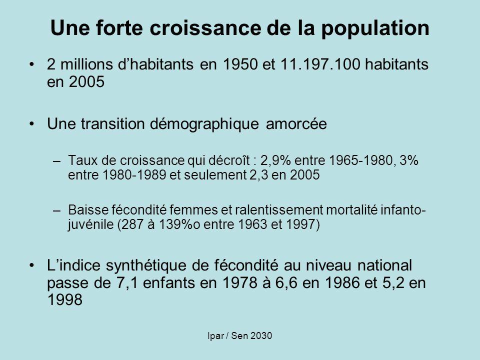 Une forte croissance de la population