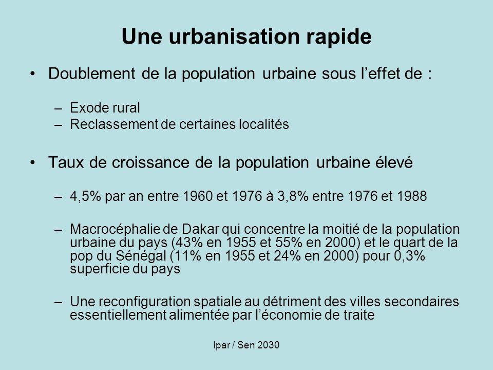 Une urbanisation rapide