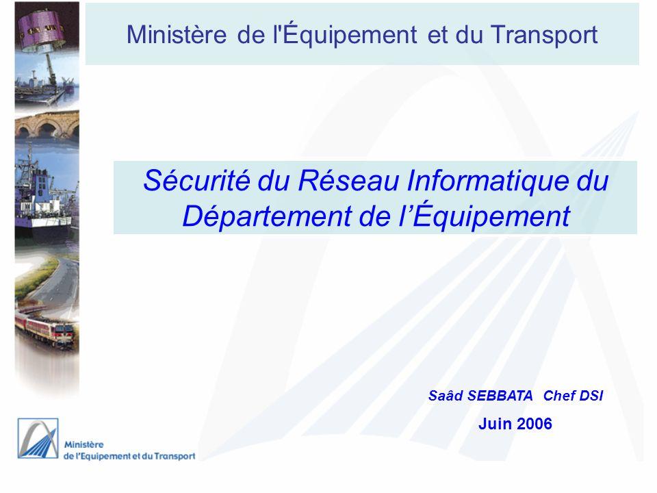 Sécurité du Réseau Informatique du Département de l'Équipement