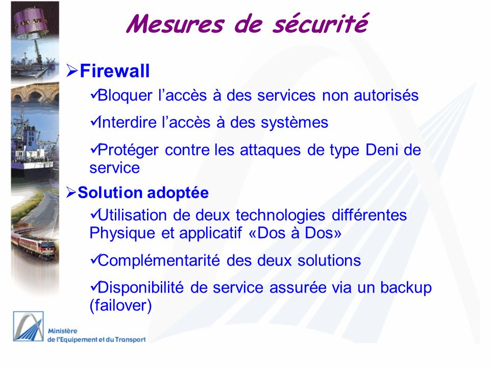 Mesures de sécurité Firewall