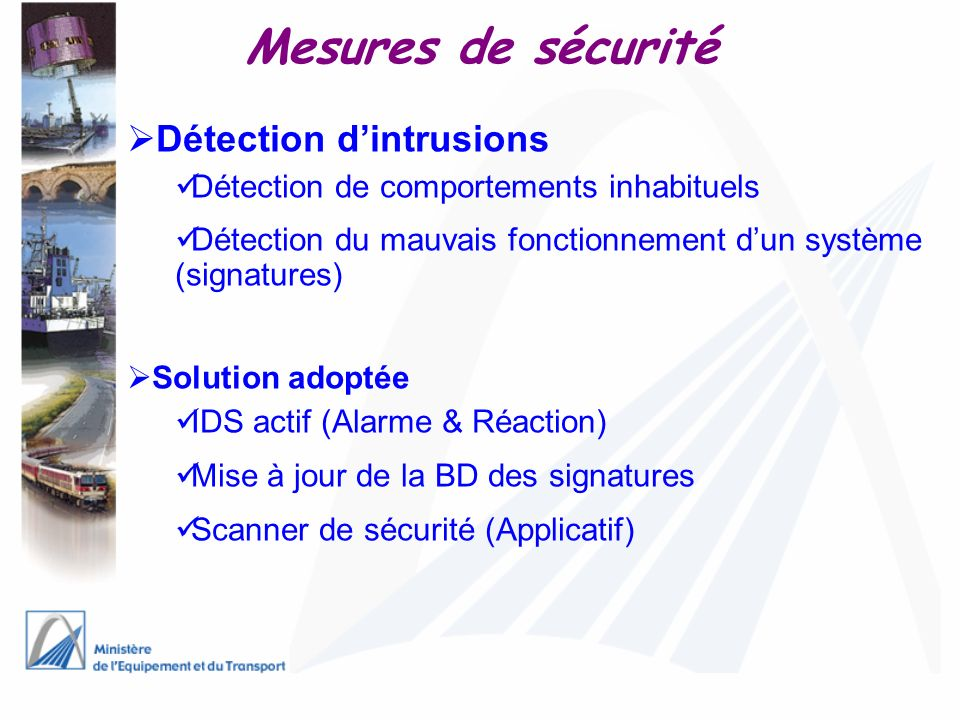 Mesures de sécurité Détection d'intrusions