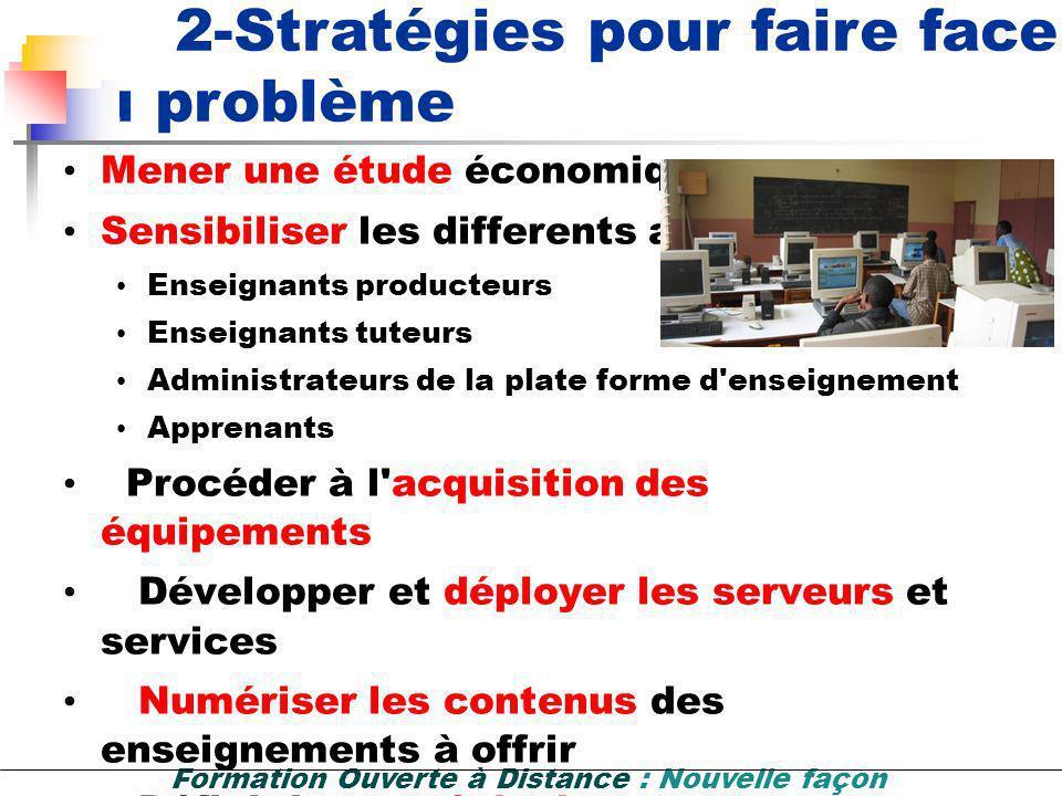 2-Stratégies pour faire face au problème