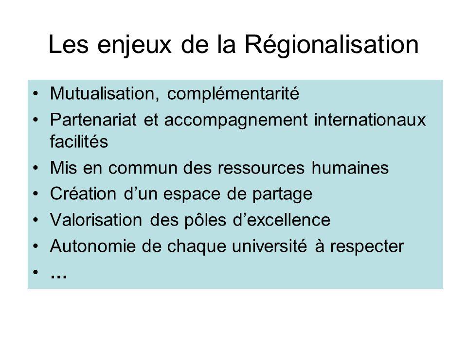 Les enjeux de la Régionalisation