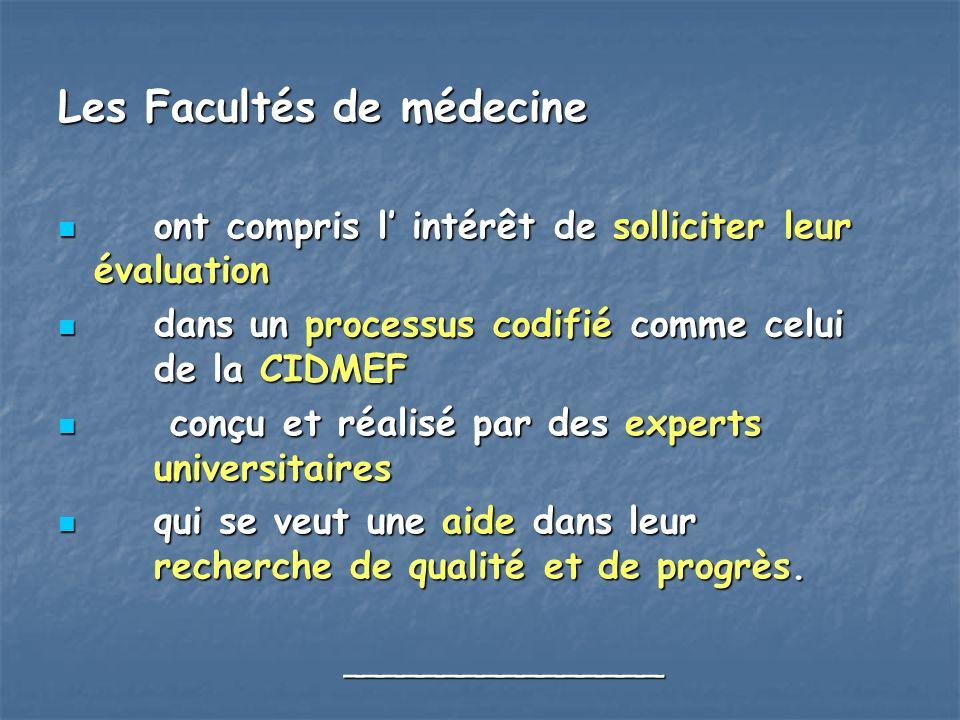 Les Facultés de médecine