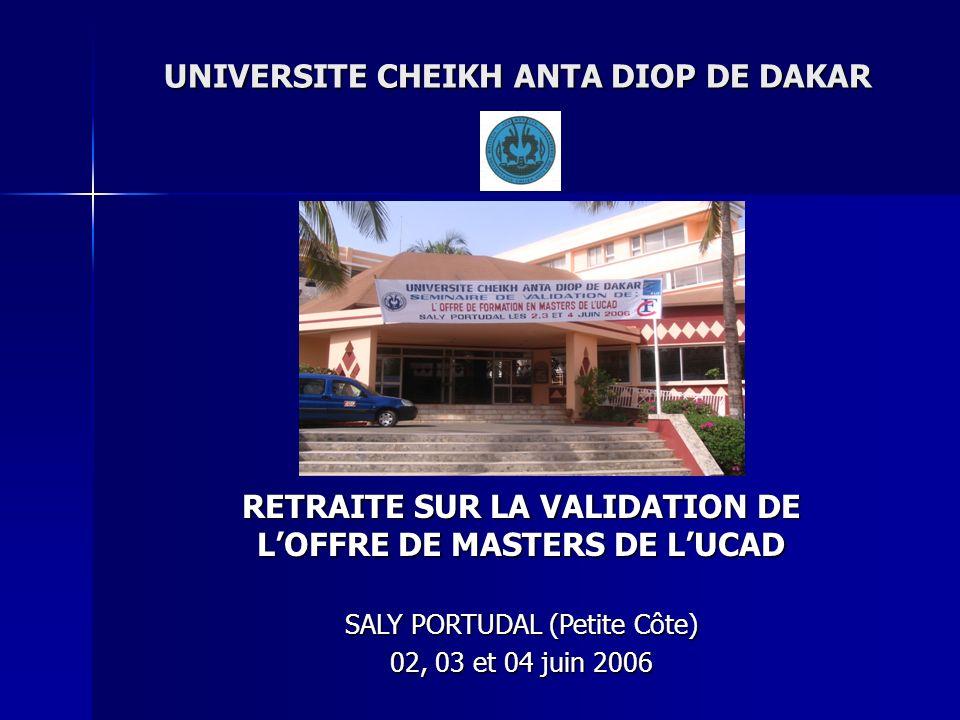 UNIVERSITE CHEIKH ANTA DIOP DE DAKAR